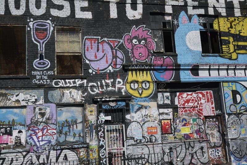 Граффити в фитиле Hackney стоковые изображения rf
