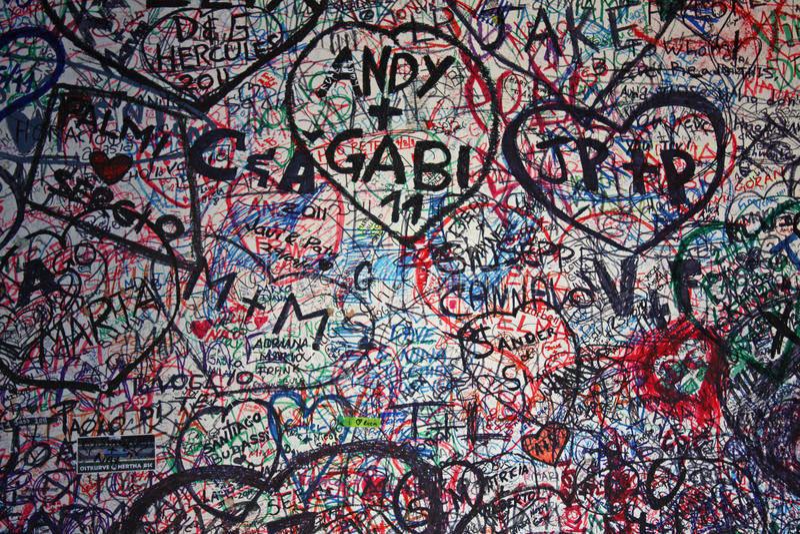 Граффити влюбленности стоковое фото rf