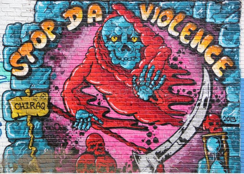 Граффити города с сообщением стоковое изображение