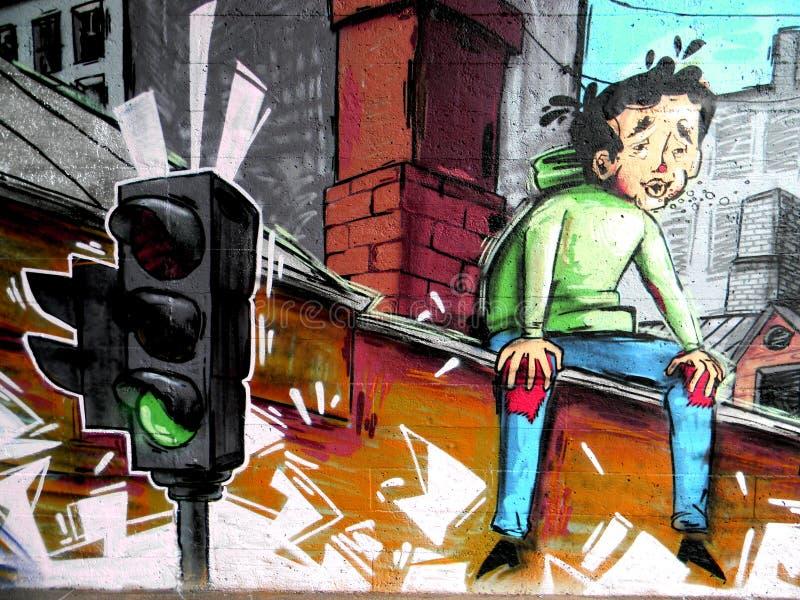 Граффити города стоковая фотография rf