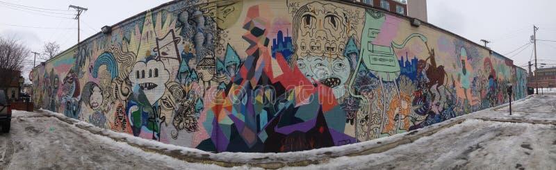 Граффити Колумбус снега, Огайо стоковые изображения rf