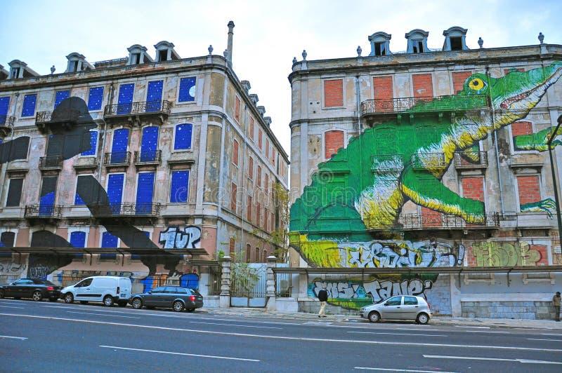 Граффити Лиссабона стоковые изображения rf