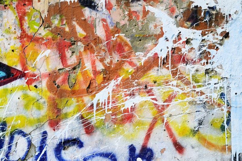 Граффити на старой стене стоковое фото rf