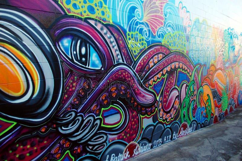 Граффити огораживают в Австралии иллюстрация вектора