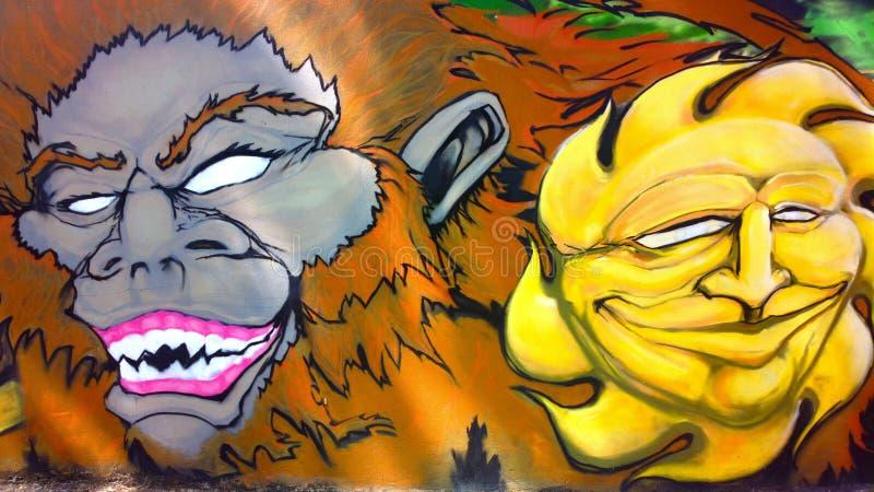 Граффити огораживают местными художниками стоковая фотография rf
