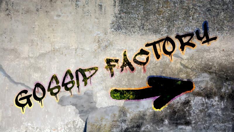 Граффити стены, который нужно ЗЛОСЛОВИТЬ ФАБРИКА стоковые изображения