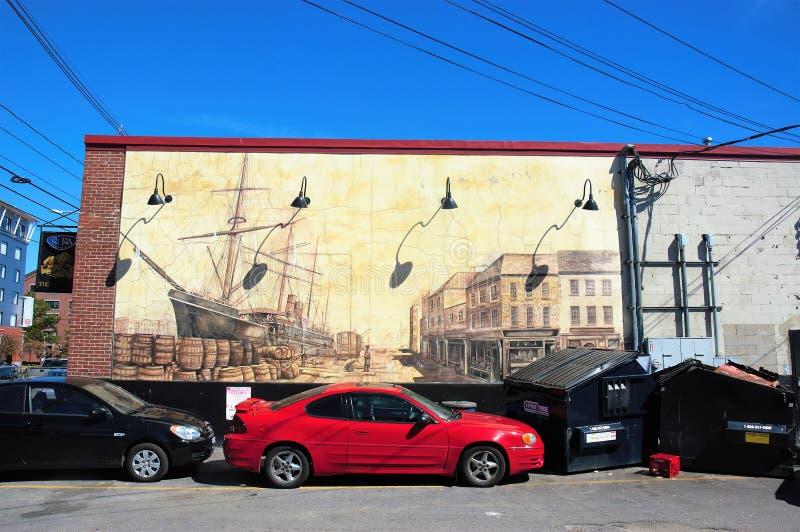 Граффити улицы Портленда Мейна США стоковое изображение