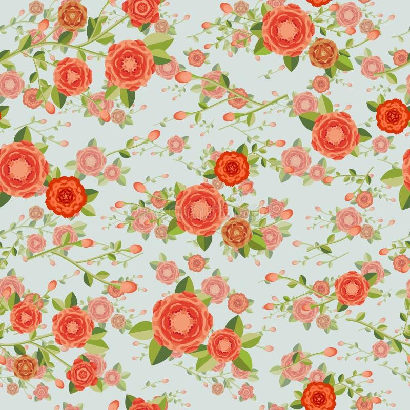 Грациозно безшовный цветочный узор бесплатная иллюстрация