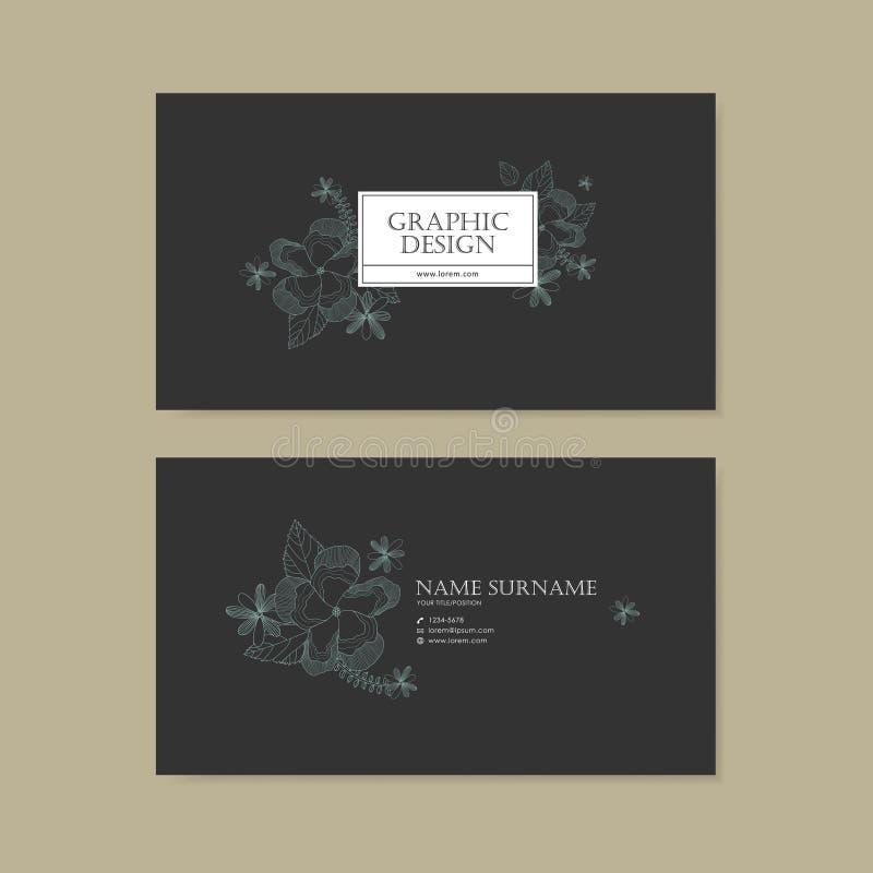 Грациозно дизайн шаблона визитной карточки бесплатная иллюстрация