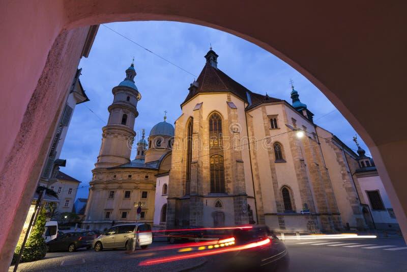 Грац Cahtedral и Katharinenkirche стоковые фото