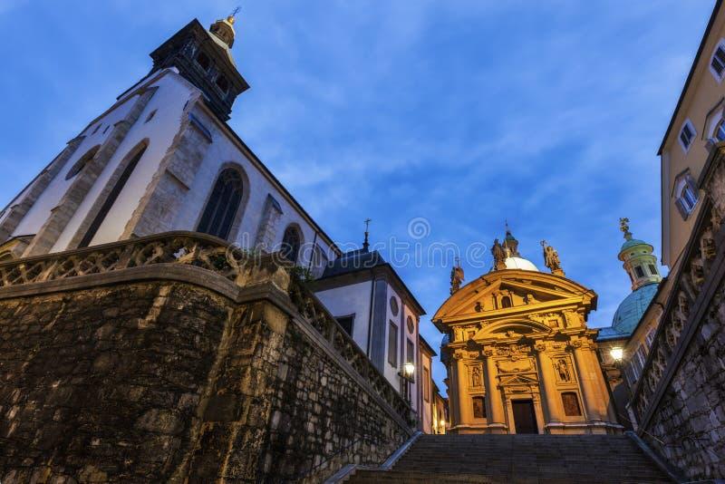 Грац Cahtedral и Katharinenkirche стоковое фото