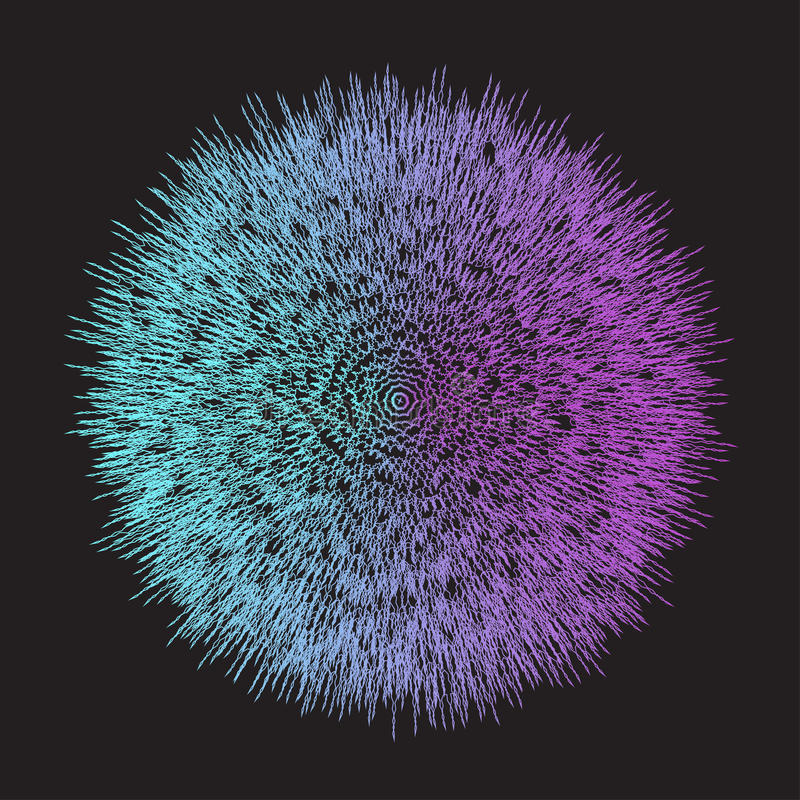 Градиент абстрактного геометрического яркого голубого aand фиолетовый покрасил предпосылку вектора с ломанными линиями иллюстрация штока