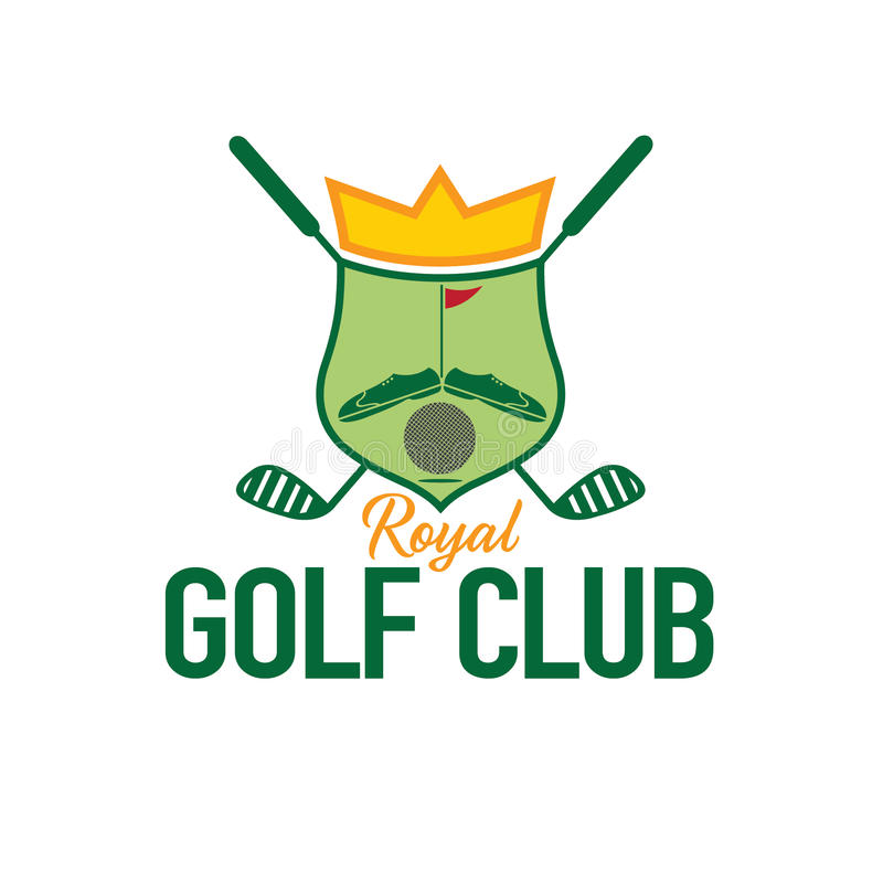 Гребень гольф-клуба иллюстрация вектора