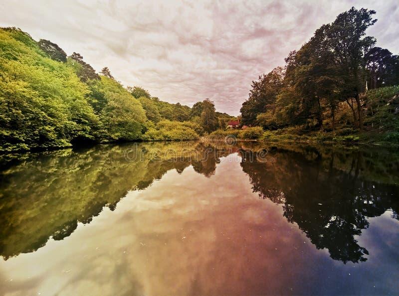 Гребля на канале Лондона стоковое фото rf