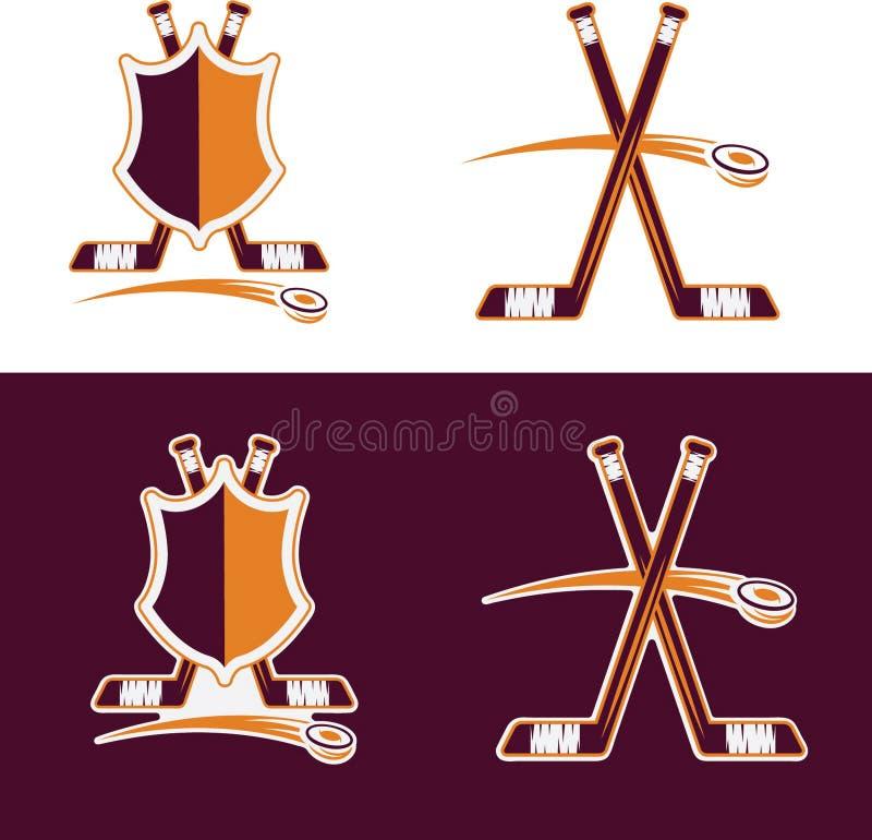 Гребни спорта хоккея иллюстрация вектора