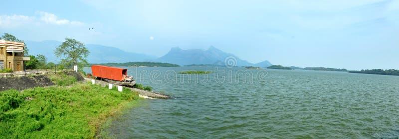 Гребля озера стоковые изображения