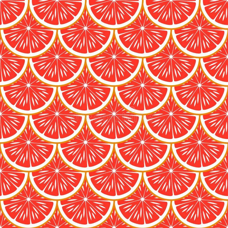 Грейпфрут вектор картины безшовный бесплатная иллюстрация