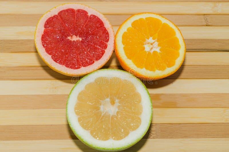 Грейпфрут, sweety и апельсин стоковое фото rf