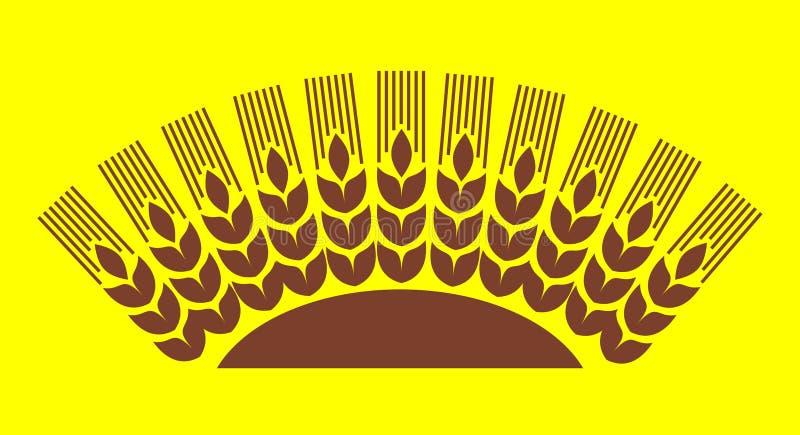 грейте на солнце пшеница иллюстрация вектора