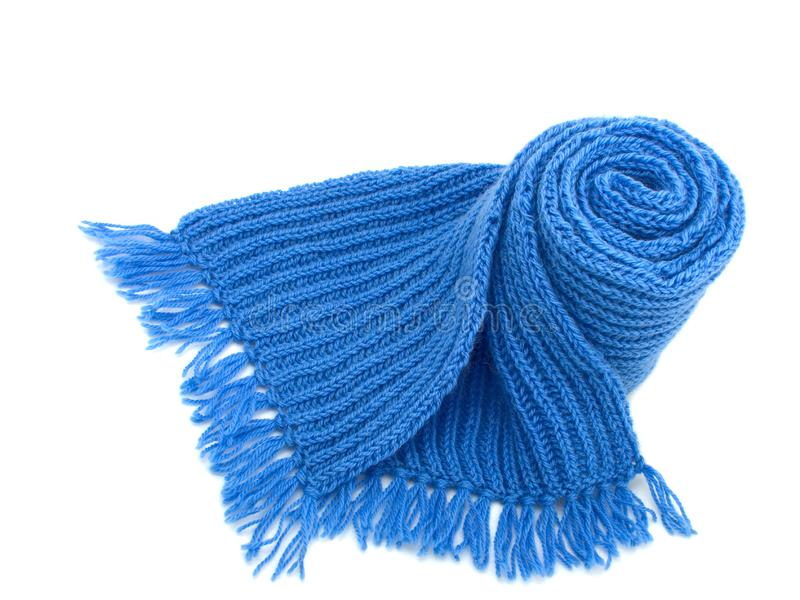 Грейте связанный шарф стоковые изображения rf