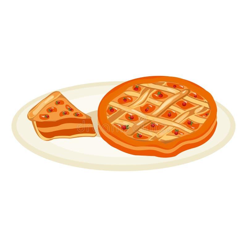 Грейте яблочный пирог также вектор иллюстрации притяжки corel иллюстрация штока