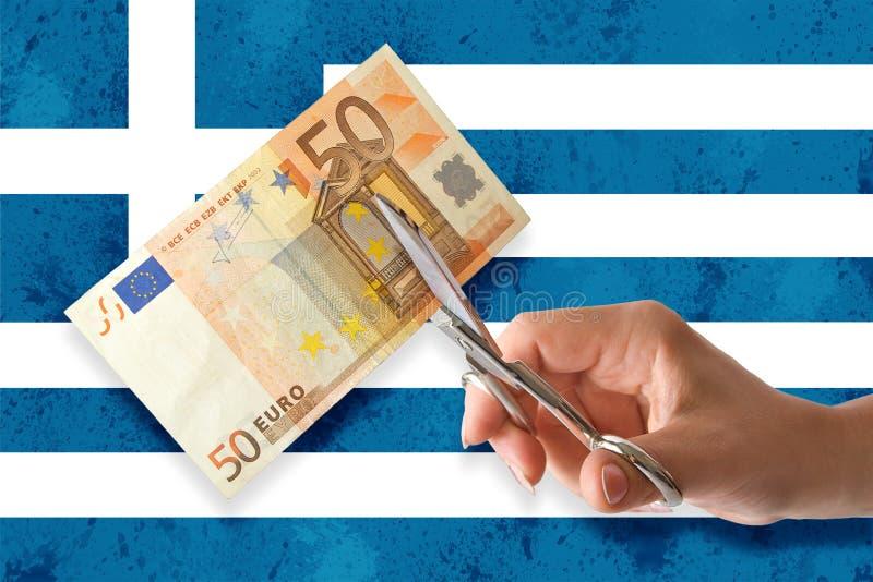 грек банкротства стоковое изображение rf