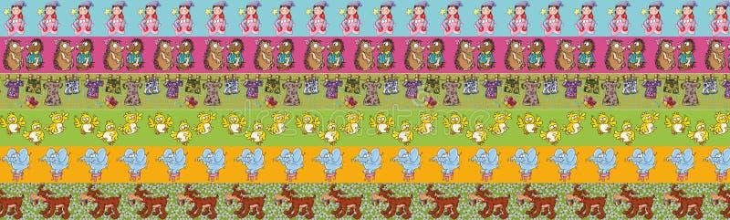 Грек прокладки с животными и children& x27; повторены, что применяют характеры s причина в спальнях, printable для бесплатная иллюстрация
