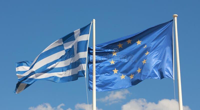 грек флага стоковые изображения