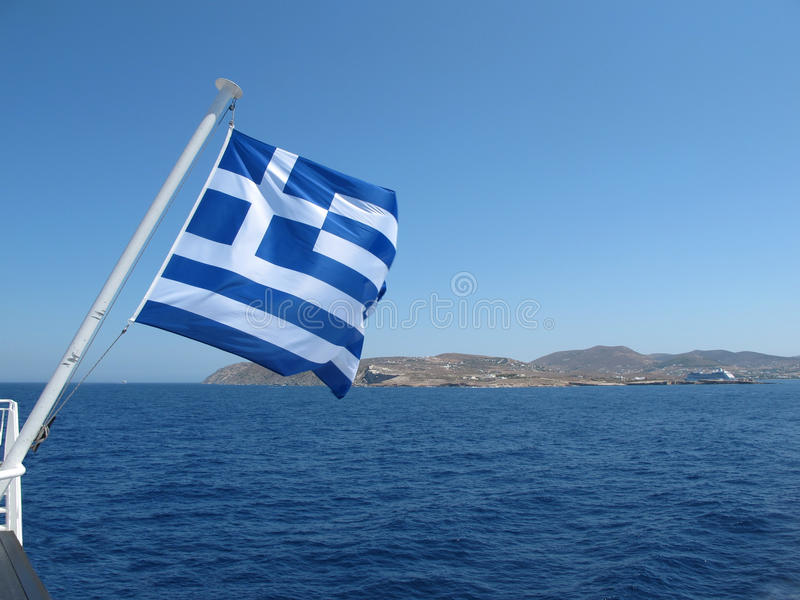 грек флага стоковое фото