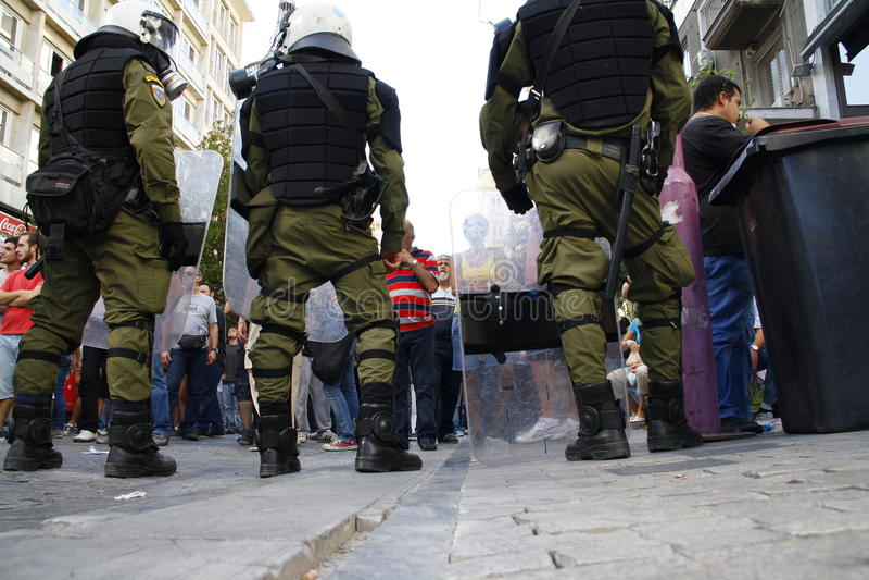 Греция, Афиныы, 18-ое октября 2012 стоковая фотография rf