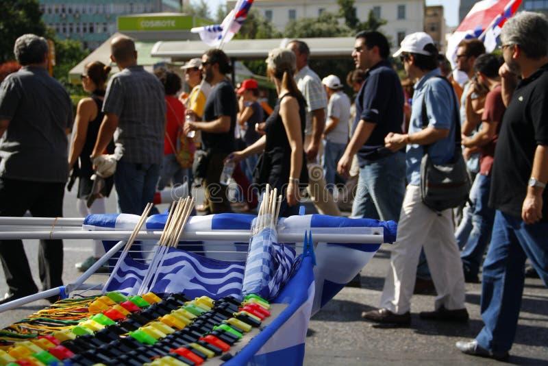Греция, Афиныы, 18-ое октября 2012 стоковое изображение