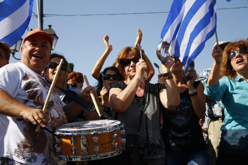 Греция, Афиныы, 18-ое октября 2012 стоковые фотографии rf