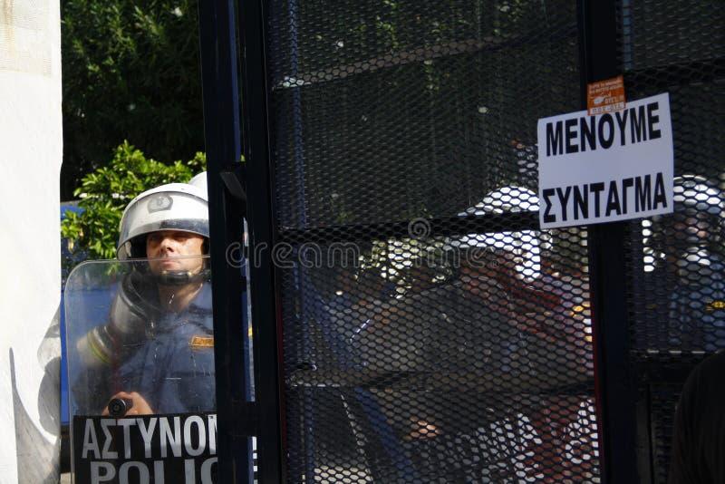 Греция, Афиныы, 18-ое октября 2012 стоковое изображение rf