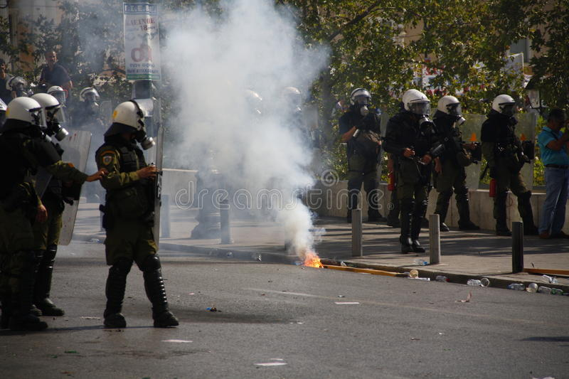 Греция, Афиныы, 18-ое октября 2012 стоковые фото