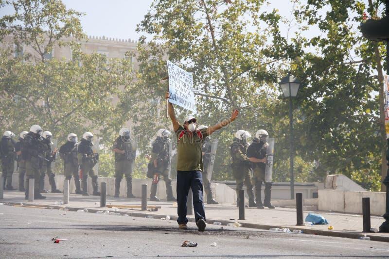 Греция, Афиныы, 18-ое октября 2012 стоковое фото rf