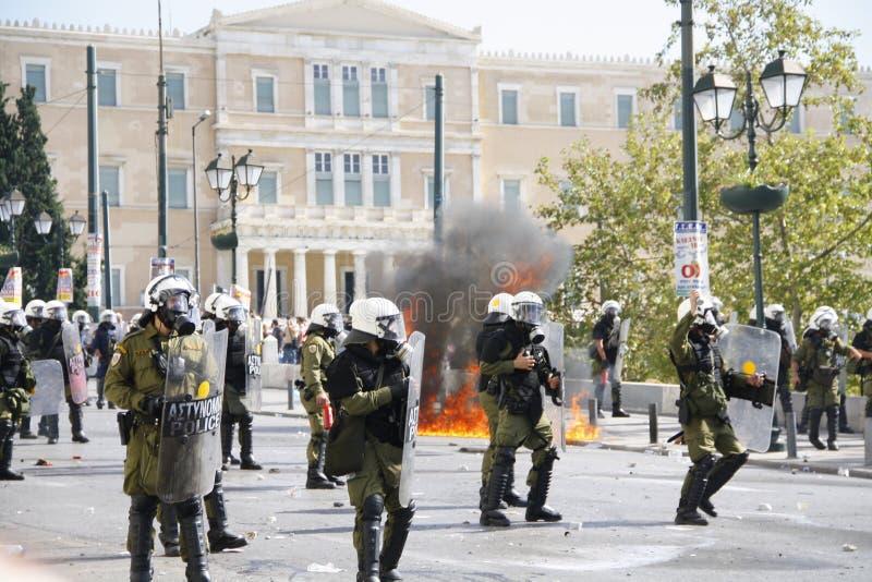 Греция, Афиныы, 18-ое октября 2012 стоковая фотография