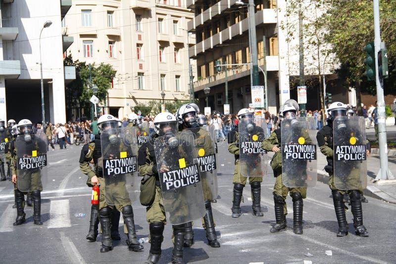 Греция, Афиныы, 18-ое октября 2012 стоковые изображения rf