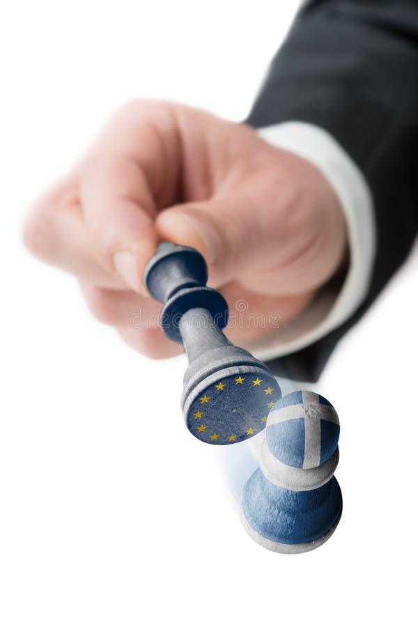 Греция выходит Европейский союз стоковое фото rf