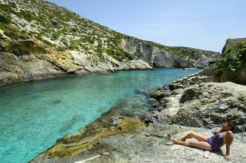 Греция, Закинф стоковые фотографии rf