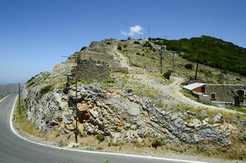Греция, Крит, руины ветрянок стоковые изображения rf