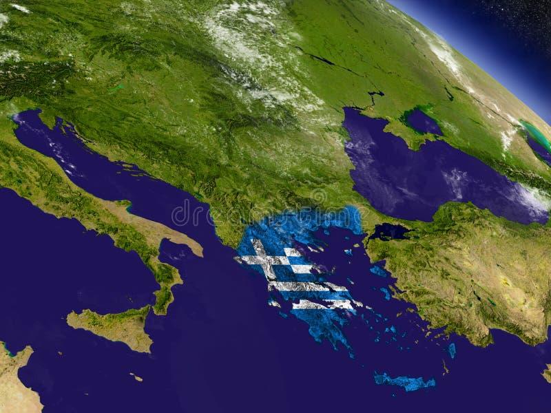 Download Греция с врезанным флагом на земле Иллюстрация штока - иллюстрации насчитывающей символ, astrix: 81809490