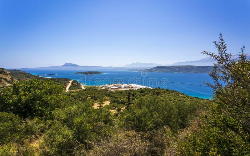 Греческая авиабаза в Сауда-Бэй, Крит, Греческие острова, Греция, Европа стоковые фотографии rf