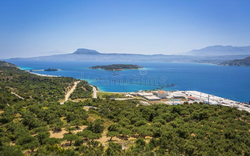 Греческая авиабаза в Сауда-Бэй, Крит, Греческие острова, Греция, Европа стоковое изображение rf