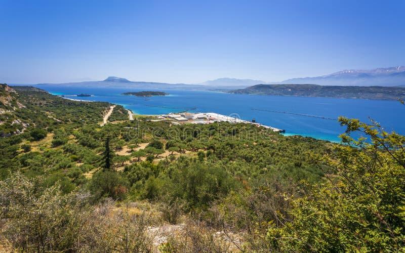 Греческая авиабаза в Сауда-Бэй, Крит, Греческие острова, Греция, Европа стоковое фото rf