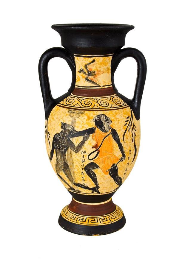 греческая ваза стоковое изображение