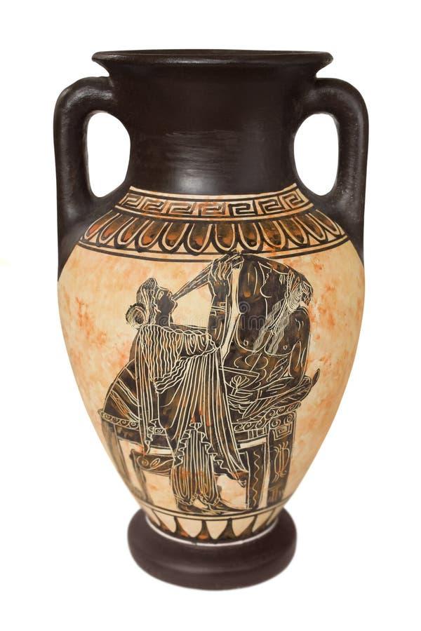 греческая ваза стоковые фотографии rf