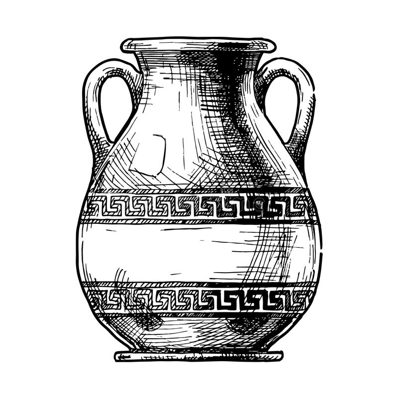 римские рисунки на вазах размещаем