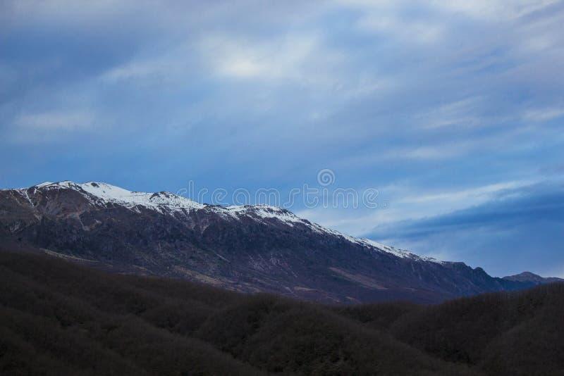 Греческая гора снега стоковая фотография