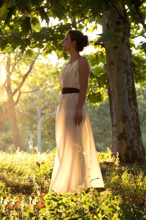 Греческая девушка стоковое фото rf