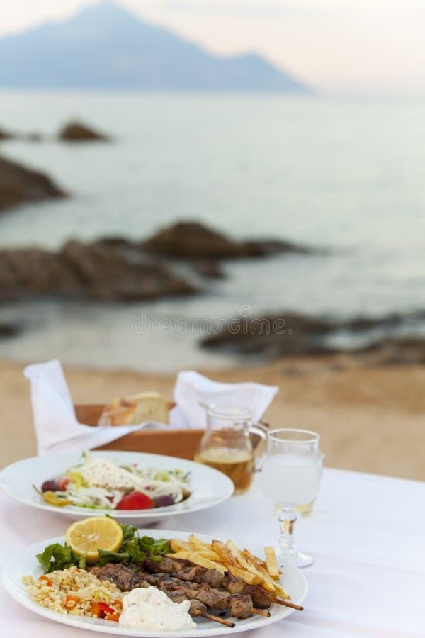 Греческая еда стоковые изображения rf